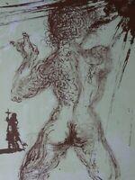 SALVADOR DALI - Nu Gris, Original Lithographie 1967