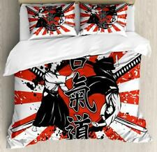Oriental Japanese Duvet Cover Set Twin Queen King Sizes with Pillow Shams