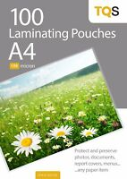 TQS Laminating Pouches A4 X100 (150 Micron Thickness) For Hot Laminator Machine