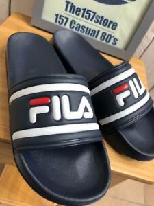 FILA Vintage Morro Slides - Navy - 80s Casual Sliders