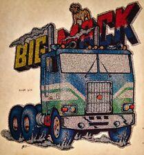 70s Mack Truck Evel Knievel American Bulldog Trucker vTg Big Rig T-shirt iron-on