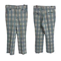 Vintage Kings Road Sears Vintage 1970s Mens Pants 36 Medium Double Knit