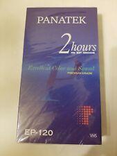 NIP VHS Tape Blank Premium Grade EP-120 VCR Video Cassette