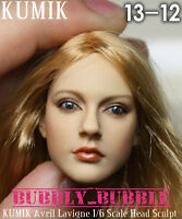 KUMIK Avril Lavigne 1/6 Head Sculpt For Hot Toy Phicen Female Body SHIP FROM USA
