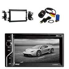 Pyle Touch Screen BT Receiver w/Metra Radio Installation Kit & Rear View Camera