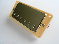 Chrome guitar humbucker bridge pickup pour Les Paul, SG,335 etc inc crème surround