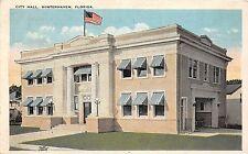 B89/ Winterhaven Florida Fl Postcard 1926 City Hall Building
