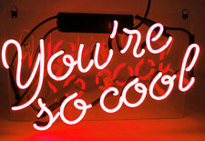 """13""""x8""""YOU'RE SO COOL Neon Sign Light Handmade Real Glass Home Decor Wall Poster"""