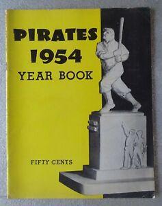 1954 Pittsburgh Pirates Yearbook (Vic Janowicz, Sam Jethroe, etc) Honus Wagner +