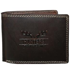 flevado Herren Hunter Geldbörse Portmonnaie Vollleder Querformat RFID Schutz