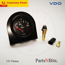 VDO VISION 52mm 12v ELECTRIC OIL TEMP GAUGE + SENDER AND L-BRACKET AUTOMOTIVE