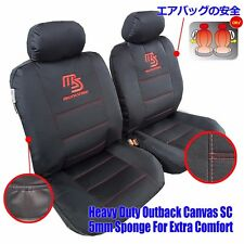 New MAZDASPEED Car Seat Cover Waterproof Canvas Black For Mazda 2 3 6 CX-3 CX-5