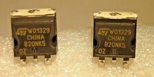 STB20NK50Z / B20NK50Z / TO263 SURFACE MOUNT / FET / 2 PIECES  (qzty)
