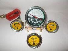 Oliver Tractor Super 55 66 67 Gauge Kit Tachometer  Temp  Ampere Oil yellow