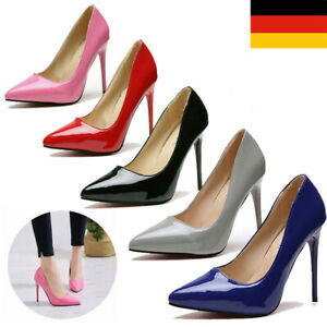 Damen Stiletto High Heels Arbeit Büro Pumps Heel Hochzeit Schuhe Spitzschuh To
