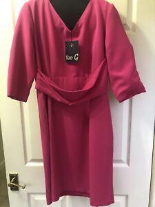 fee g dress Uk 14 Bnwt Shocking Pink