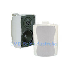 NEW Outdoor Marine Speakers white 110Watt 2-Way Quality Audio 4 Ohm Box External