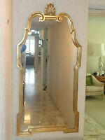 FABULOUS 50's ITALIAN  CARVED WOOD GILT MIRROR * GREAT FOR FOYER ENTRY CONSOLE