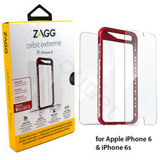Zagg Orbit Extreme Case/Cover + InvisibleShield Screen Protector iPhone 6S Red
