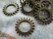 Toothy Sprockets Open Gear or Cog Charms Brass Ox Alloy Blanks 22mm 12 Pcs