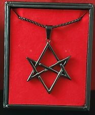 Unicursal Hexagram Thelema - Stainless Steel (316L) BLACK