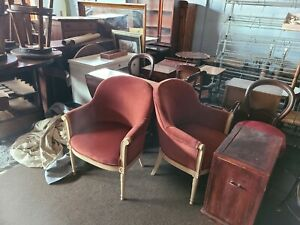 French Provincial Arm Chairs - a Pair