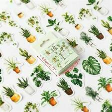45pcs Green Potted Plant Stickers Sealing Diary Label Sticker DIY Scrapbooking