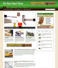 BOAT PLANS UK AFFILIATE STORE WEBSITE WITH BANNER OPTIONS + HOSTING