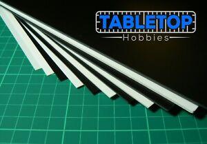 Single Sheet Black White Plasticard Model Making Terrain Scenery Pick Thickness