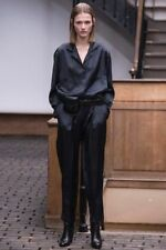 Christophe Lemaire AW14 One-Pleated Dress Pants Trousers 3 M Viscose Blue Black