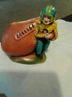 Vintage Ceramic Football Player Planter # 8 Made in Japan for  Ruben's Originals