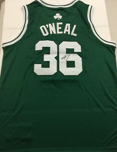 SHAQUILLE O'NEAL SIIGNED BOSTON CELTICS GREEN  JERSEY PSA WITNESS 9A24569