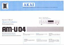 AKAI manuale di istruzioni user manual operatore'S MANUAL PER AM-U 04