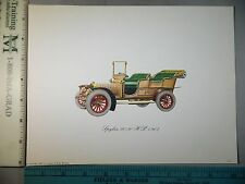Rare Original VTG Spyker 20/30 H P 1907 Automobile Car Color Litho Art Print