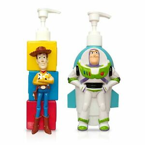 Finex Toy Story Set Woody Buzz Lightyear Empty Refillable Pump Bottle Dispensers