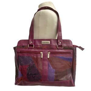 Patchwork Handbag Nathalie Andersen 90s Y2K Boho Purple Bag Real Leather Granny