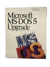 "Microsoft MS-DOS 5 Upgrade PC 3.5"" Floppy Factory Sealed"
