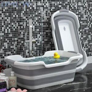 Bath Tub Shower Foldable Portable Bathtub Baby Pet  Foot Basket Washing Storage