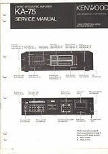Original service manual Kenwood KA-75 stereo integrated amplifier amp repair