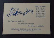 Carte de visite LE CORSAIRE Juan-Les-Pins Restaurant pédalo old visit card