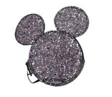 Disney Silver Coin Purse Glitter Make-up Bag Glittery Mickey Mouse Primark