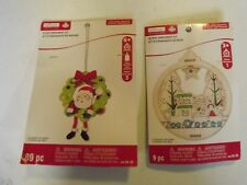 2 NIP Kids Crafts, Ornament Kits Creatology Santa, Christmas scene