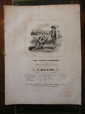 Partition Sheet Music 19 ème Siècle Les petits glaneurs F Masini