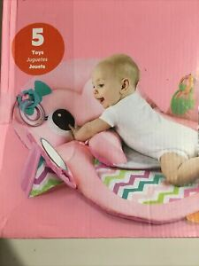 Bright Starts Tummy Time Prop & Play Activity Mat - Owl, Ages Newborn +