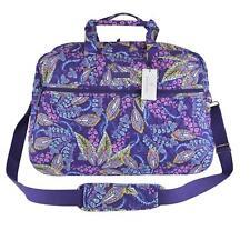 NEW Vera Bradley BATIK LEAVES Paisley Print Cotton Medium Traveler Weekender Bag