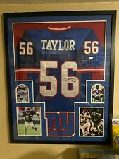 Custom Framed Autographed Lawrence Taylor NY Giants Jersey