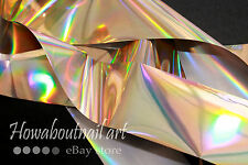 """Vitality"" pale gold holographic transfer nail art foil - 1 meter"