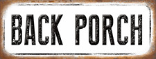 Back Porch Metal Sign, Outdoor Living, Patio, Deck