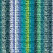 NORO ::Kureyon #359:: wool knitting yarn Blues-Greys-Lemon-Violet-White