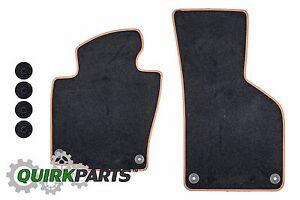 2009-2011 VW Volkswagen Passat & 11-17 CC Black Teak Front Textile Floor Mats